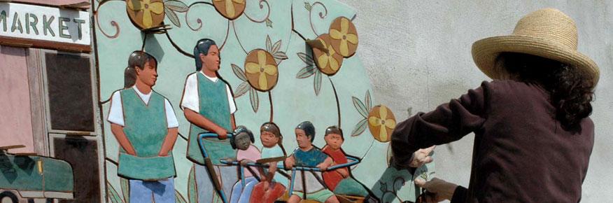 Judith Installs the RCMA Mural